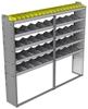 "24-8372-5 Square back bin separator combo shelf unit 84""Wide x 13.5""Deep x 72""High with 5 shelves"