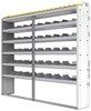 "24-8372-6 Square back bin separator combo shelf unit 84""Wide x 13.5""Deep x 72""High with 6 shelves"