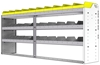 "24-8536-3 Square back bin separator combo shelf unit 84""Wide x 15.5""Deep x 36""High with 3 shelves"