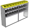 "24-8548-3 Square back bin separator combo shelf unit 84""Wide x 15.5""Deep x 48""High with 3 shelves"