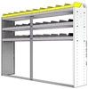 "24-8558-3 Square back bin separator combo shelf unit 84""Wide x 15.5""Deep x 58""High with 3 shelves"