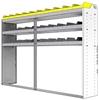 "24-8558-3 Square back bin separator combo shelf unit 84""Wide x 15.5""Deep x 58""High with 3 shelves"