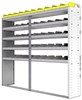 "24-8572-5 Square back bin separator combo shelf unit 84""Wide x 15.5""Deep x 72""High with 5 shelves"