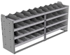 "24-8836-4 Square back bin separator combo shelf unit 84""Wide x 18.5""Deep x 36""High with 4 shelves"