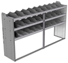"24-8848-3 Square back bin separator combo shelf unit 84""Wide x 18.5""Deep x 48""High with 3 shelves"