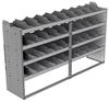 "24-8848-4 Square back bin separator combo shelf unit 84""Wide x 18.5""Deep x 48""High with 4 shelves"