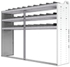 "24-8858-3 Square back bin separator combo shelf unit 84""Wide x 18.5""Deep x 58""High with 3 shelves"