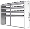 "24-8858-4 Square back bin separator combo shelf unit 84""Wide x 18.5""Deep x 58""High with 4 shelves"