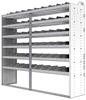 "24-8872-6 Square back bin separator combo shelf unit 84""Wide x 18.5""Deep x 72""High with 6 shelves"