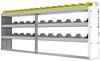 "24-9136-3 Square back bin separator combo shelf unit 94""Wide x 11.5""Deep x 36""High with 3 shelves"