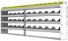 "24-9136-4 Square back bin separator combo shelf unit 94""Wide x 11.5""Deep x 36""High with 4 shelves"