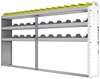 "24-9148-3 Square back bin separator combo shelf unit 94""Wide x 11.5""Deep x 48""High with 3 shelves"
