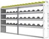 "24-9148-4 Square back bin separator combo shelf unit 94""Wide x 11.5""Deep x 48""High with 4 shelves"