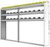 "24-9158-3 Square back bin separator combo shelf unit 94""Wide x 11.5""Deep x 58""High with 3 shelves"