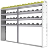 "24-9163-4 Square back bin separator combo shelf unit 94""Wide x 11.5""Deep x 63""High with 4 shelves"