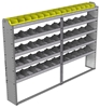 "24-9163-5 Square back bin separator combo shelf unit 94""Wide x 11.5""Deep x 63""High with 5 shelves"