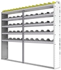 "24-9172-5 Square back bin separator combo shelf unit 94""Wide x 11.5""Deep x 72""High with 5 shelves"