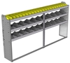 "24-9348-3 Square back bin separator combo shelf unit 94""Wide x 13.5""Deep x 48""High with 3 shelves"