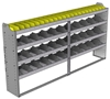 "24-9348-4 Square back bin separator combo shelf unit 94""Wide x 13.5""Deep x 48""High with 4 shelves"