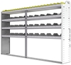 "24-9358-4 Square back bin separator combo shelf unit 94""Wide x 13.5""Deep x 58""High with 4 shelves"