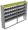 "24-9363-5 Square back bin separator combo shelf unit 94""Wide x 13.5""Deep x 63""High with 5 shelves"