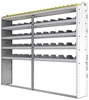 "24-9372-5 Square back bin separator combo shelf unit 94""Wide x 13.5""Deep x 72""High with 5 shelves"