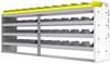 "24-9536-4 Square back bin separator combo shelf unit 94""Wide x 15.5""Deep x 36""High with 4 shelves"