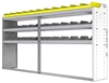 "24-9548-3 Square back bin separator combo shelf unit 94""Wide x 15.5""Deep x 48""High with 3 shelves"