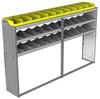 "24-9558-3 Square back bin separator combo shelf unit 94""Wide x 15.5""Deep x 58""High with 3 shelves"