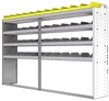 "24-9558-4 Square back bin separator combo shelf unit 94""Wide x 15.5""Deep x 58""High with 4 shelves"