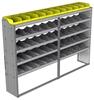 "24-9563-5 Square back bin separator combo shelf unit 94""Wide x 15.5""Deep x 63""High with 5 shelves"