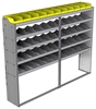 "24-9572-5 Square back bin separator combo shelf unit 94""Wide x 15.5""Deep x 72""High with 5 shelves"