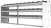 "24-9836-3 Square back bin separator combo shelf unit 94""Wide x 18.5""Deep x 36""High with 3 shelves"