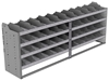 "24-9836-4 Square back bin separator combo shelf unit 94""Wide x 18.5""Deep x 36""High with 4 shelves"