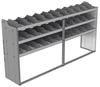 "24-9848-3 Square back bin separator combo shelf unit 94""Wide x 18.5""Deep x 48""High with 3 shelves"