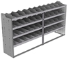 "24-9848-4 Square back bin separator combo shelf unit 94""Wide x 18.5""Deep x 48""High with 4 shelves"