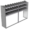 "24-9858-3 Square back bin separator combo shelf unit 94""Wide x 18.5""Deep x 58""High with 3 shelves"