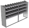 "24-9858-4 Square back bin separator combo shelf unit 94""Wide x 18.5""Deep x 58""High with 4 shelves"