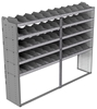 "24-9872-5 Square back bin separator combo shelf unit 94""Wide x 18.5""Deep x 72""High with 5 shelves"