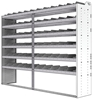 "24-9872-6 Square back bin separator combo shelf unit 94""Wide x 18.5""Deep x 72""High with 6 shelves"