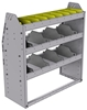 "25-3336-3 Profiled back bin separator combo Shelf unit 34.5""Wide x 13.5""Deep x 36""High with 3 shelves"
