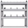 "25-3336-3 Profiled back bin separator combo Shelf unit 34.5""Wide x 13.5""Deep x 36""High with 3 shelves"