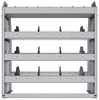 "25-3336-4 Profiled back bin separator combo Shelf unit 34.5""Wide x 13.5""Deep x 36""High with 4 shelves"