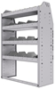 "25-3348-4 Profiled back bin separator combo Shelf unit 34.5""Wide x 13.5""Deep x 48""High with 4 shelves"