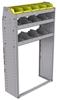 "25-3358-3 Profiled back bin separator combo Shelf unit 34.5""Wide x 13.5""Deep x 58""High with 3 shelves"