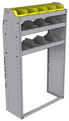 "25-3358-3 Profiled back bin separator combo Shelf unit 34.5""Wide x 13.5""Deep x 58""High with 3 shelves"
