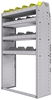 "25-3358-4 Profiled back bin separator combo Shelf unit 34.5""Wide x 13.5""Deep x 58""High with 4 shelves"