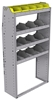 "25-3363-4 Profiled back bin separator combo Shelf unit 34.5""Wide x 13.5""Deep x 63""High with 4 shelves"