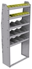 "25-3372-5 Profiled back bin separator combo Shelf unit 34.5""Wide x 13.5""Deep x 72""High with 5 shelves"