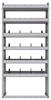 "25-3372-6 Profiled back bin separator combo Shelf unit 34.5""Wide x 13.5""Deep x 72""High with 6 shelves"